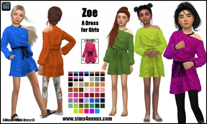 Zoe dress for girls by SamanthaGump