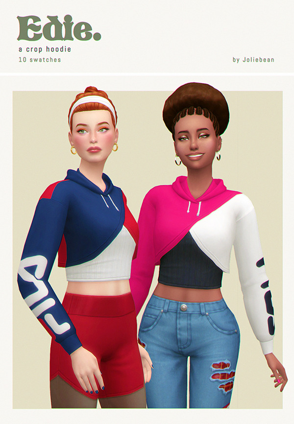 Edie Crop Hoodie at Joliebean image 1153 Sims 4 Updates