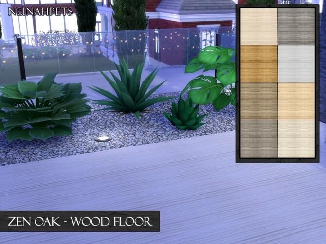 Sims 4 Zen Oak Wood Floor by neinahpets at TSR