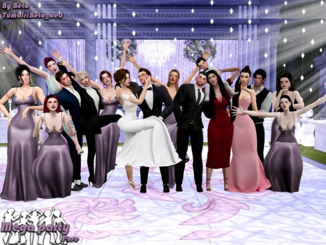 Mega party Pose Pack by Beto_ae0