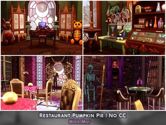 Sims 4 Restaurant Pumpkin Pie by MikkiMur at TSR
