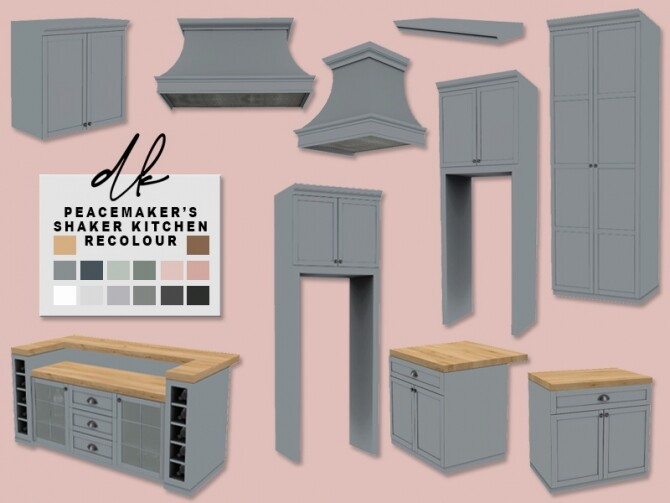Sims 4 Peacemaker's Shaker Kitchen Recolours at DK SIMS