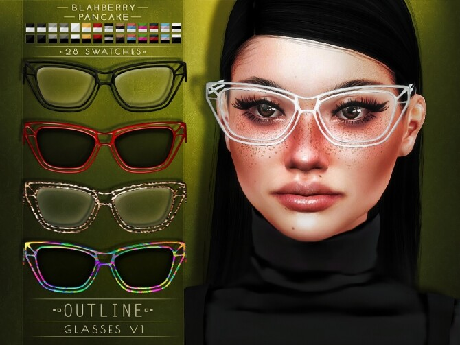 Outline Glasses at Blahberry Pancake image 1174 670x503 Sims 4 Updates