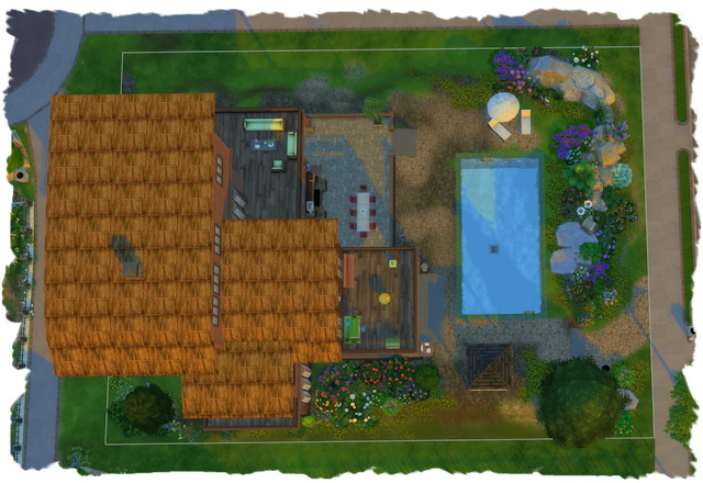 Sims 4 Wooden house by the river from Chalipo at All 4 Sims