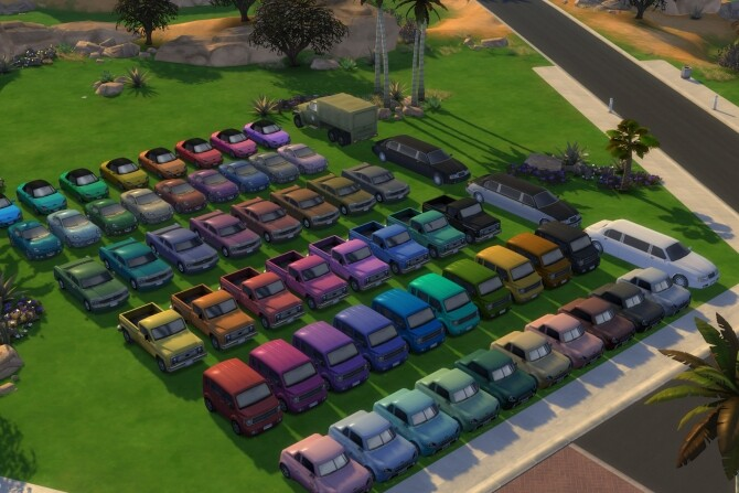 Sims 4 Buyable Cars for Mapless Travel by roundgrass at Mod The Sims