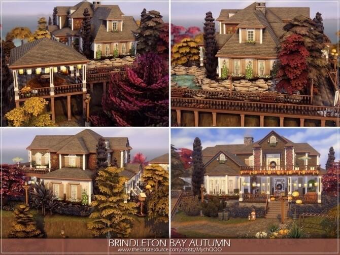 Sims 4 Brindleton Bay Autumn by MychQQQ at TSR