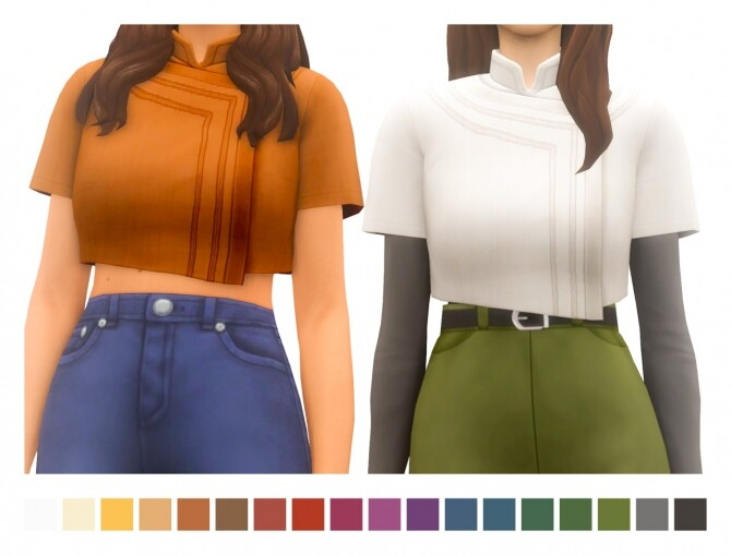 Sims 4 Leia Top at Sims4Nicole