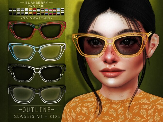 Outline Glasses at Blahberry Pancake image 1194 670x503 Sims 4 Updates