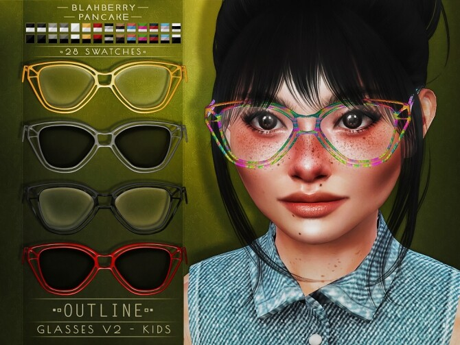 Outline Glasses at Blahberry Pancake image 1204 670x503 Sims 4 Updates
