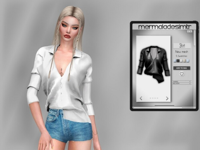 Asymmetrical Shirt MC74 by mermaladesimtr