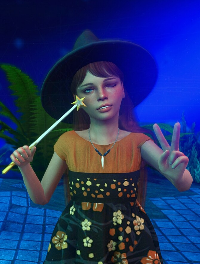 Sims 4 Little witch posepack at Rethdis love