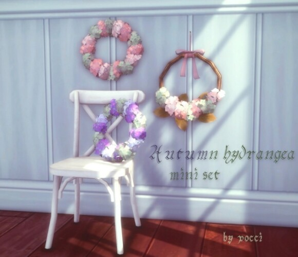 Autumn Hydrangea mini set by Pocci