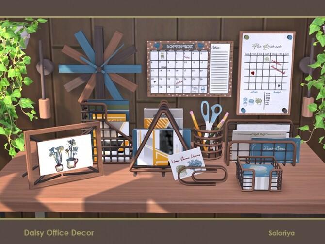Sims 4 Daisy Office Decor by soloriya at TSR