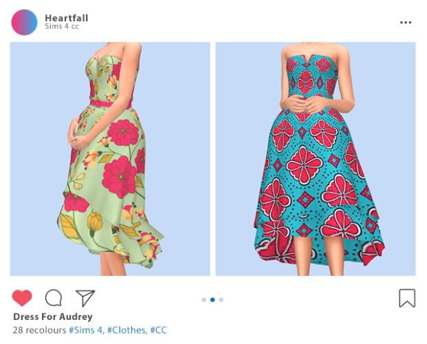Dress for Audrey recolors