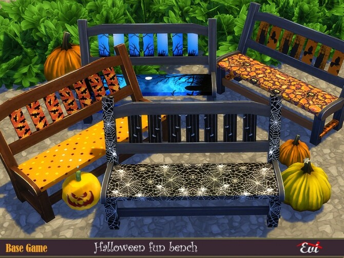 Halloween fun bench by evi at TSR image 1236 670x503 Sims 4 Updates