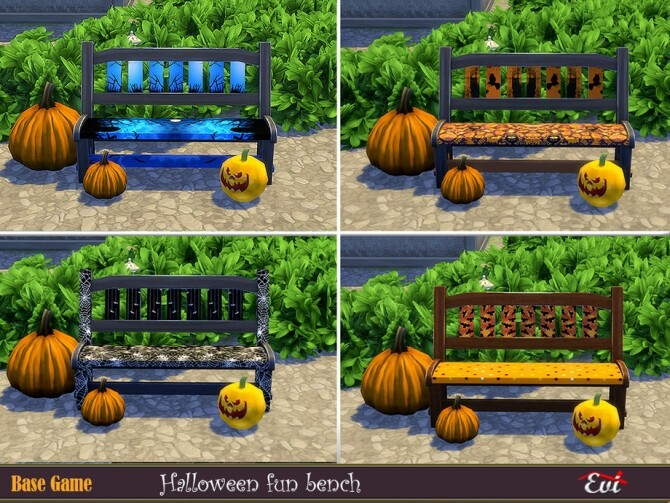 Halloween fun bench by evi at TSR image 1247 670x503 Sims 4 Updates