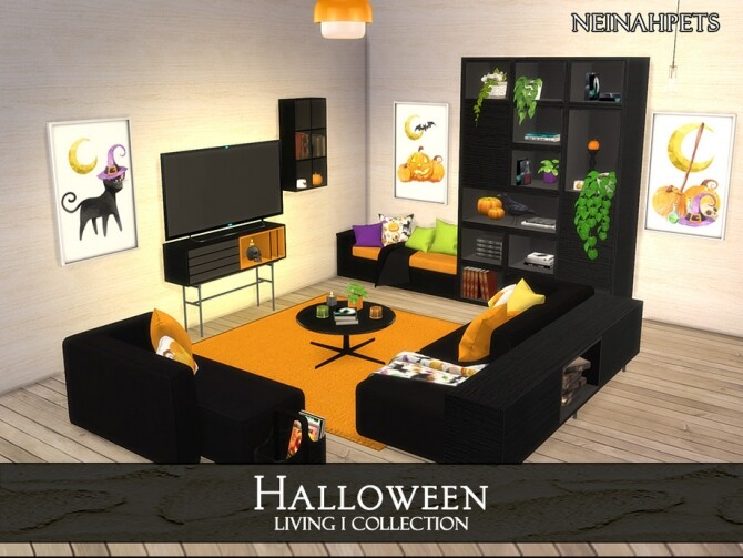 Halloween Living I by neinahpets at TSR image 1250 670x503 Sims 4 Updates