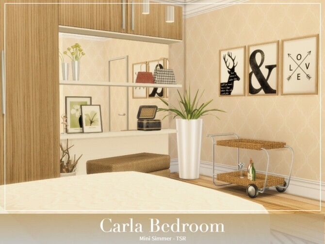Sims 4 Carla Bedroom by Mini Simmer at TSR