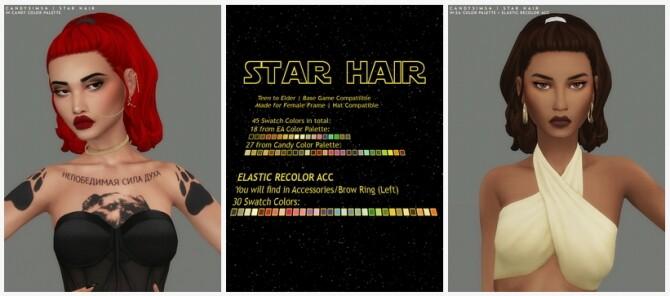 Sims 4 STAR HAIR at Candy Sims 4