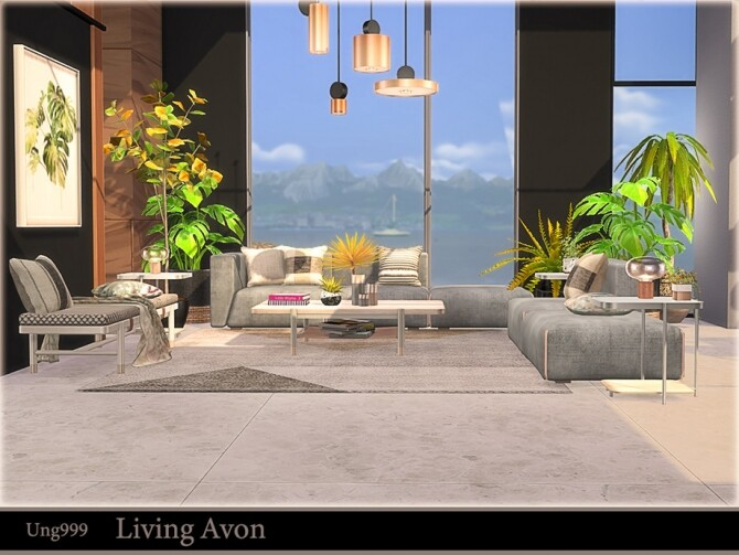 Sims 4 Living Avon by ung999 at TSR