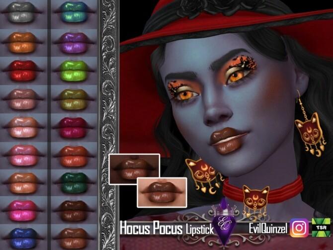 Sims 4 Hocus Pocus Lipstick by EvilQuinzel at TSR
