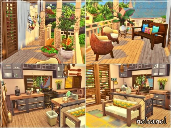 Sims 4 Sunny Thalia House by nolcanol at TSR