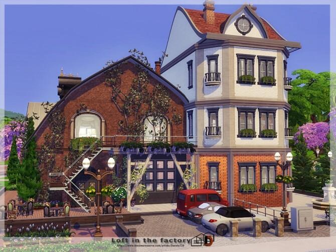 Sims 4 Loft in the factory by Danuta720 at TSR