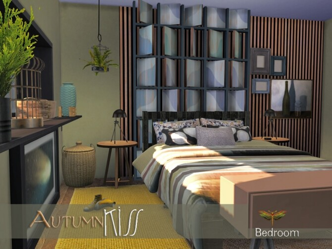 Autumn Kiss Master Bedroom by fredbrenny at TSR image 1289 670x503 Sims 4 Updates