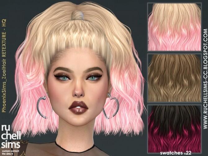 PhoenixSims Zoel Hair RETEXTURE HQ at Ruchell Sims image 1297 670x503 Sims 4 Updates