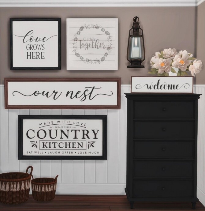 Farmhouse Signs at Sooky image 13014 670x689 Sims 4 Updates