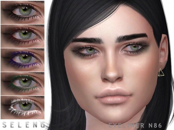 Sims 4 Eyeliner N86 by Seleng at TSR