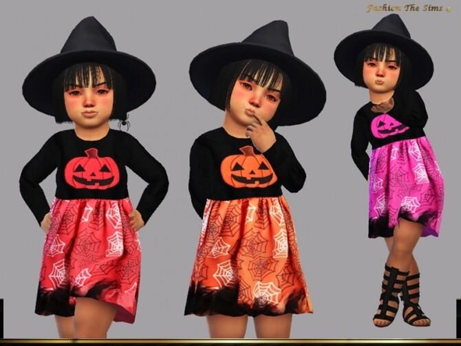 Sims 4 Dress Camilla baby by LYLLYAN at TSR
