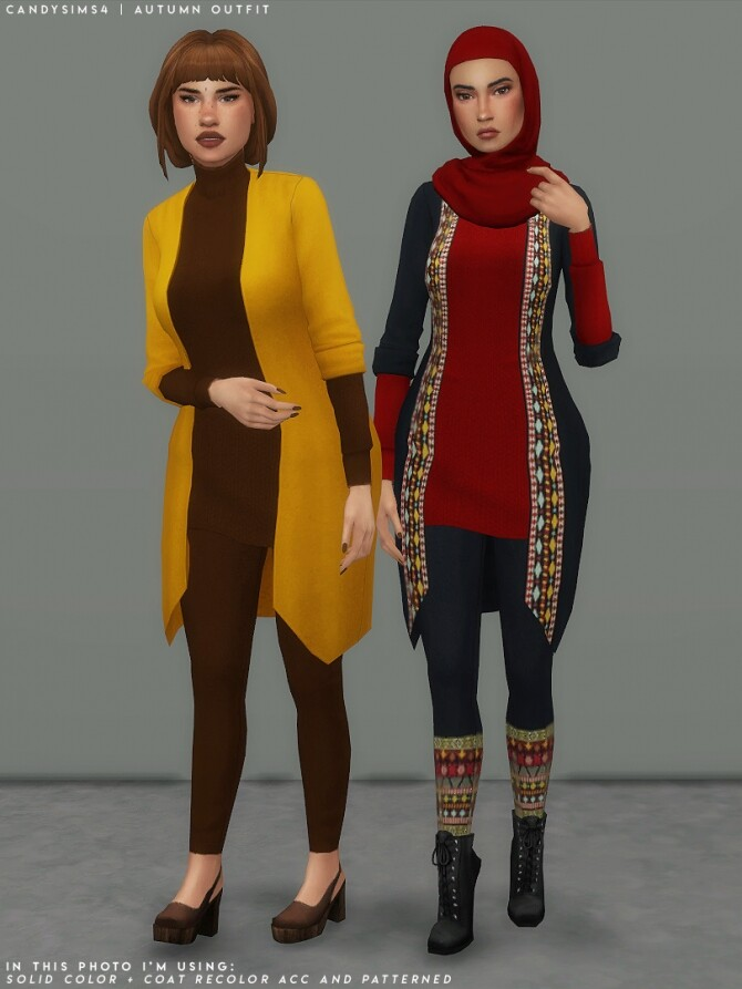 Sims 4 AUTUMN OUTFIT at Candy Sims 4