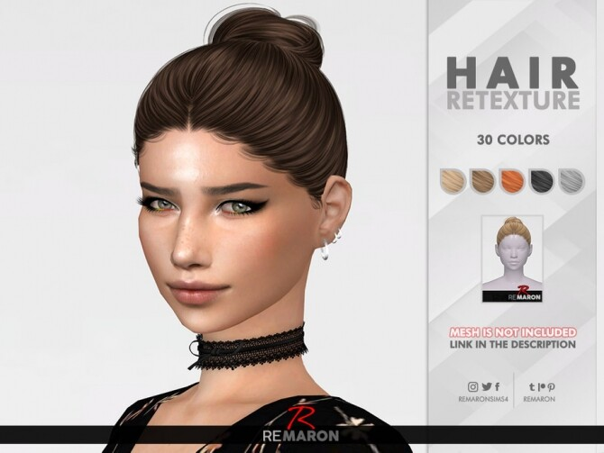 Sims 4 Kendall Hair Retexture by remaron at TSR