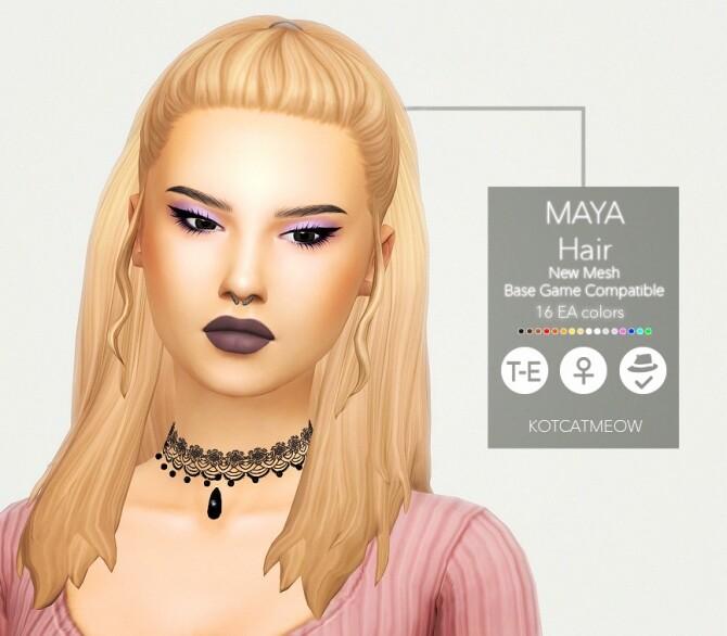 Sims 4 Maya Hair at KotCatMeow