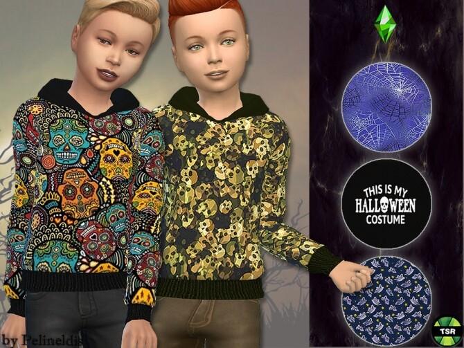 Sims 4 Halloween Sweatshirt by Pelineldis at TSR