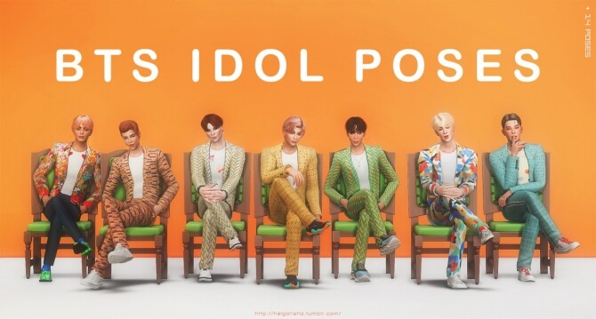 BTS IDOL Pose Pack at Helga Tisha image 1321 670x359 Sims 4 Updates