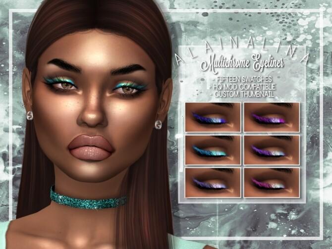 Multichrome Eyeliner at AlainaLina image 13215 670x503 Sims 4 Updates