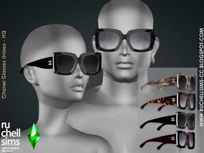 Sims 4 Designer glasses at Ruchell Sims