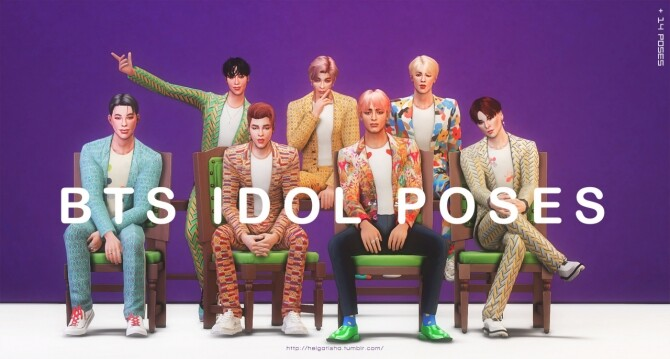BTS IDOL Pose Pack at Helga Tisha image 1331 670x359 Sims 4 Updates