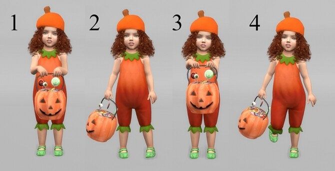 Trick or Treat! Pumpkin bucket and pose pack at Sims 4 Studio image 13314 670x343 Sims 4 Updates