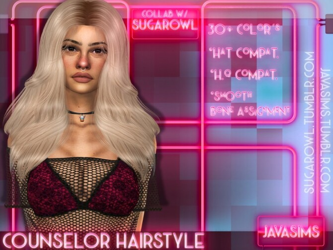 Counselor Collab Hairstyle by JavaSims