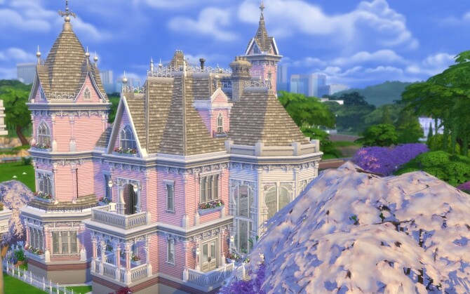 Sims 4 The Pink Victorian mansion by alexiasi at Mod The Sims