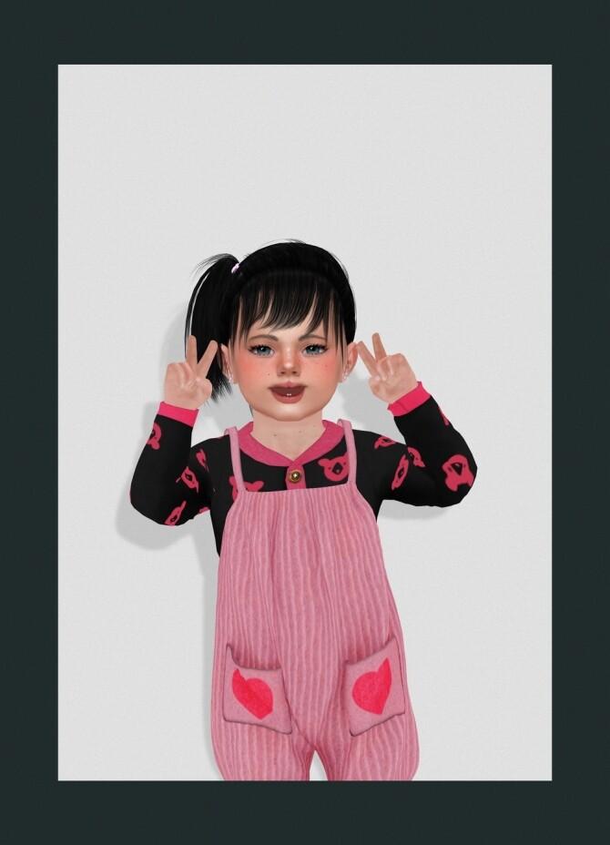 LIVIA HAIR KIDS AND TODDLER at REDHEADSIMS image 1339 670x928 Sims 4 Updates