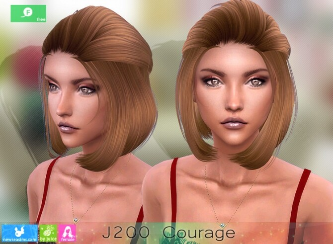 Sims 4 J200 Courage hairstyle by Newsea Sims 4