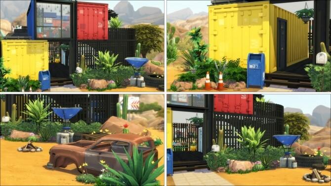 Sims 4 TETRIS Hideaway funky little eco home at Saurus Sims
