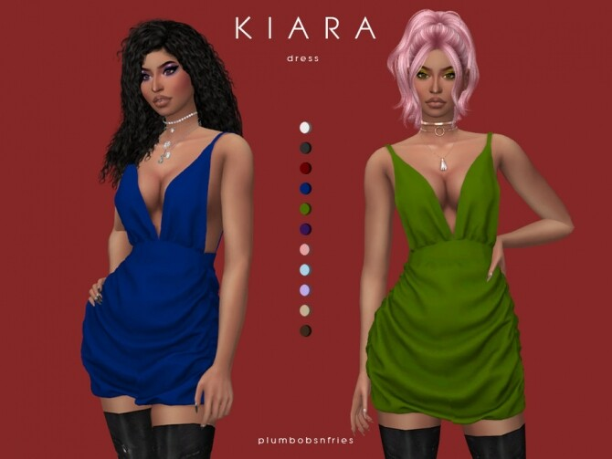 Sims 4 KIARA dress by Plumbobs n Fries at TSR
