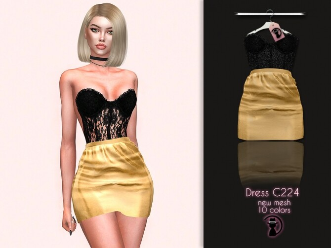 Dress C224 by turksimmer at TSR image 14111 670x503 Sims 4 Updates