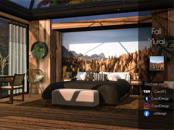 Fall Mural by Caroll91 at TSR image 1413 670x503 Sims 4 Updates
