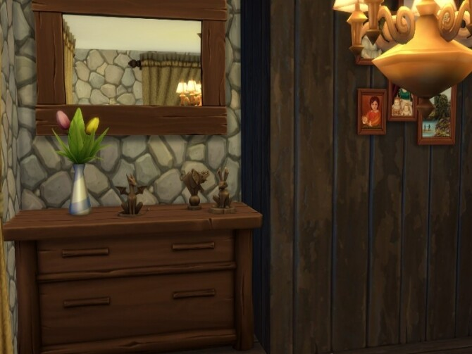 Sims 4 Tiny deep in the woods cabin by GenkaiHaretsu at TSR